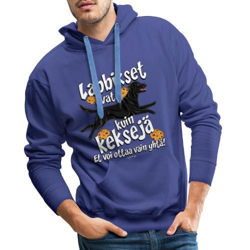 Labradori Keksi 3 - Miesten premium-huppari