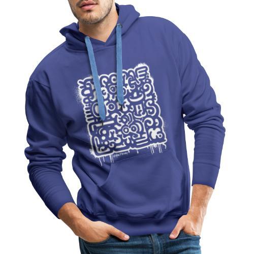 Mike Peter Henry - Street art - Number 05 color - Sweat-shirt à capuche Premium pour hommes