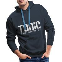 Tonic Logo - Men's Premium Hoodie - navy