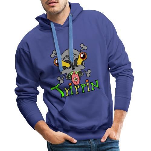 Totenkopf Trippin Design - Männer Premium Hoodie