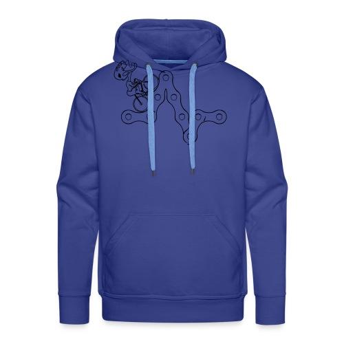 CHAINE VELO - Sweat-shirt à capuche Premium pour hommes