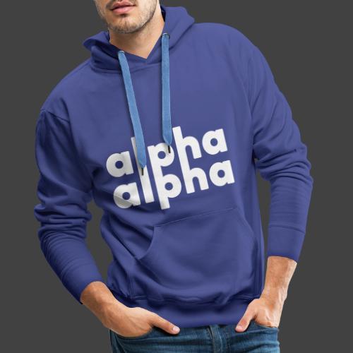 alpha alpha - Männer Premium Hoodie