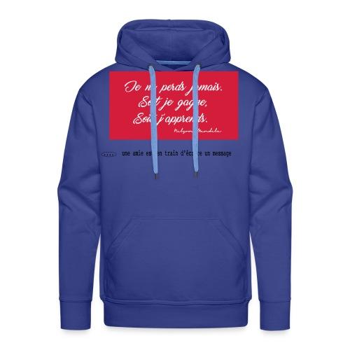 proverbe 1.1 - Sweat-shirt à capuche Premium pour hommes