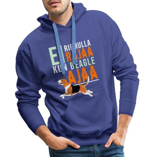 Riemulla Rajaa Beagle - Miesten premium-huppari