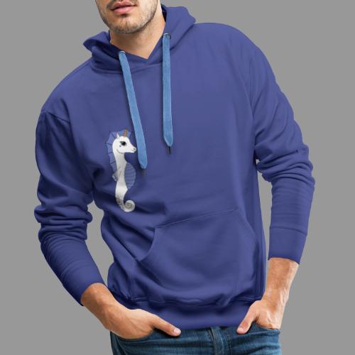Seepferdeinhorn weiss blau - Männer Premium Hoodie