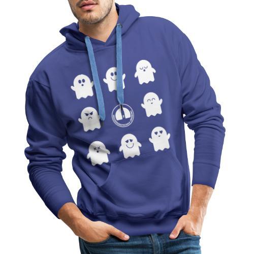 Der Klassiker. Die lustigen Schulgeister in blau - Männer Premium Hoodie