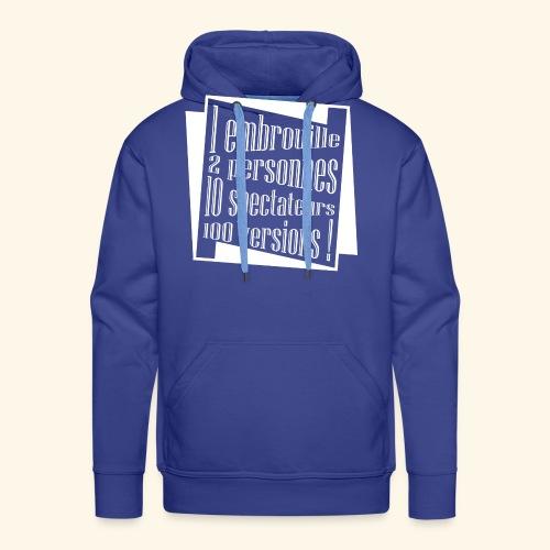 embrouille - Sweat-shirt à capuche Premium pour hommes