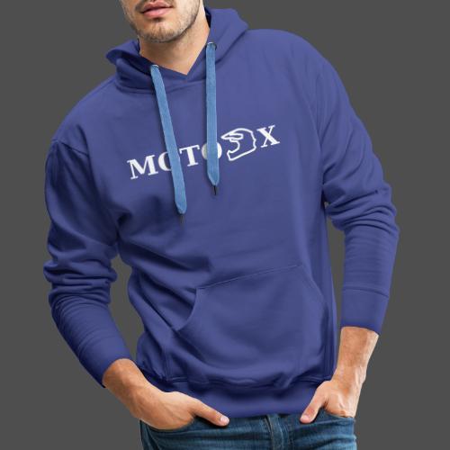 moto x - Bluza męska Premium z kapturem
