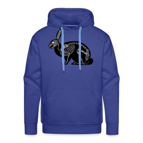 konijn skelet - Mannen Premium hoodie