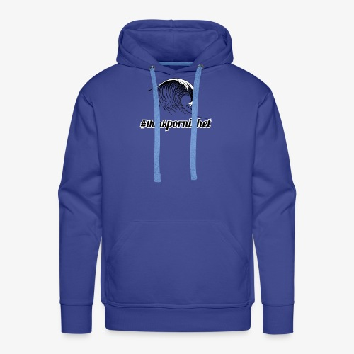 Vague Wave Thinkpornichet by DesignTouch - Sweat-shirt à capuche Premium pour hommes
