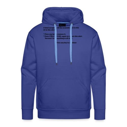 BSOD - Blue Screen of Death - Windows - Sweat-shirt à capuche Premium pour hommes