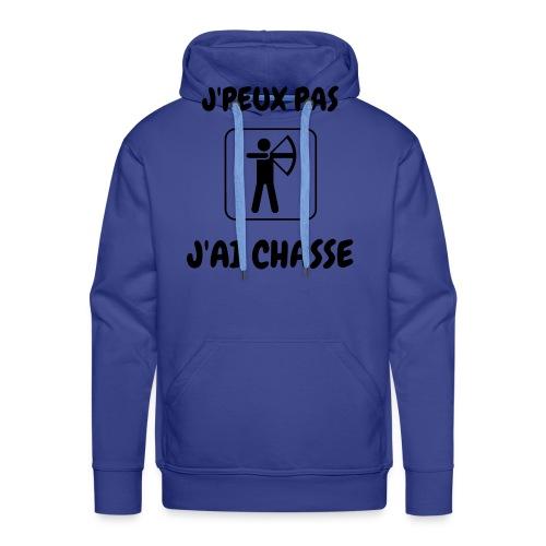 jpeux pas jai chasse - Sweat-shirt à capuche Premium pour hommes
