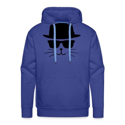 Chat avec style - Sweat-shirt à capuche Premium pour hommes