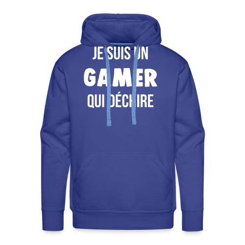je suis un gamer qui déchire geek - Sweat-shirt à capuche Premium pour hommes
