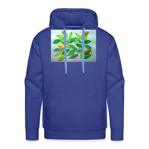 Feuilles - Sweat-shirt à capuche Premium pour hommes