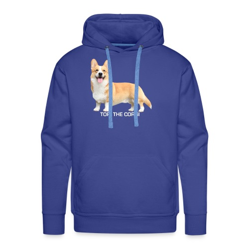 Topi the Corgi - White text - Men's Premium Hoodie