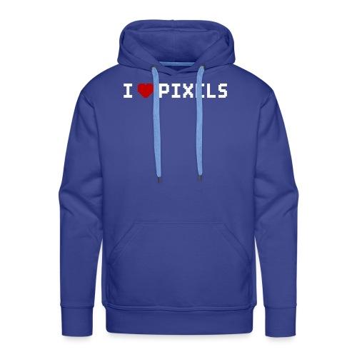 I Love Pixels - Herre Premium hættetrøje