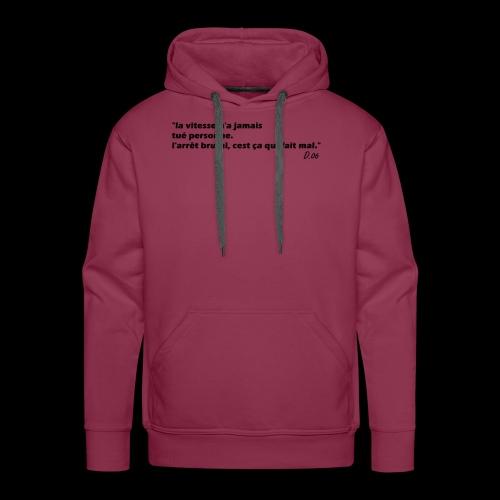 vitesse (noir) - Sweat-shirt à capuche Premium pour hommes