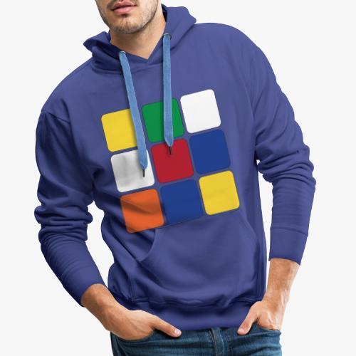 Square - Felpa con cappuccio premium da uomo