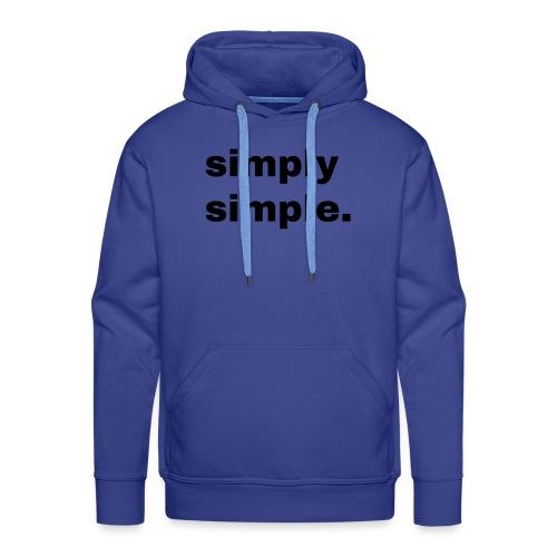simply simple. Geschenk Idee Simple - Männer Premium Hoodie