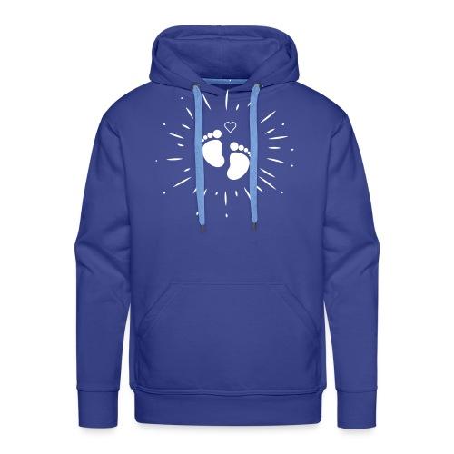 Naissance bébé pour papa ou maman - Sweat-shirt à capuche Premium pour hommes