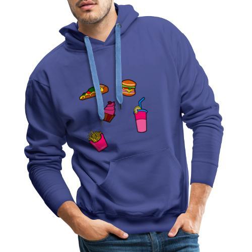 Fast Food Design - Männer Premium Hoodie