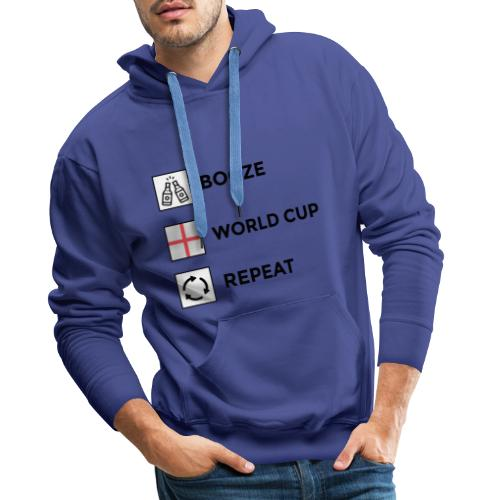 Booze - World Cup - Repeat - Men's Premium Hoodie