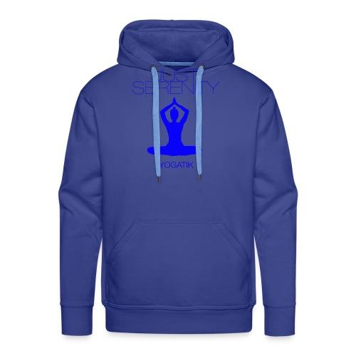 yogatyk blue - Sweat-shirt à capuche Premium pour hommes