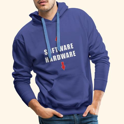 software hardware - Sudadera con capucha premium para hombre