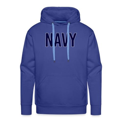 NAVY - Navy Blue - Men's Premium Hoodie