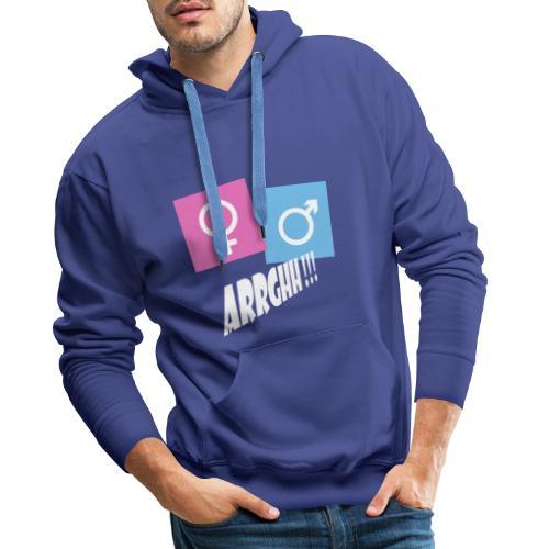 Kønsstereotyper argh - Herre Premium hættetrøje