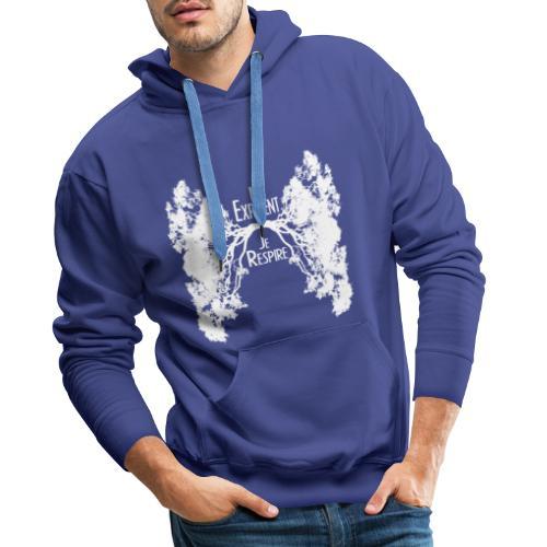 Oxygène blanc - Sweat-shirt à capuche Premium pour hommes