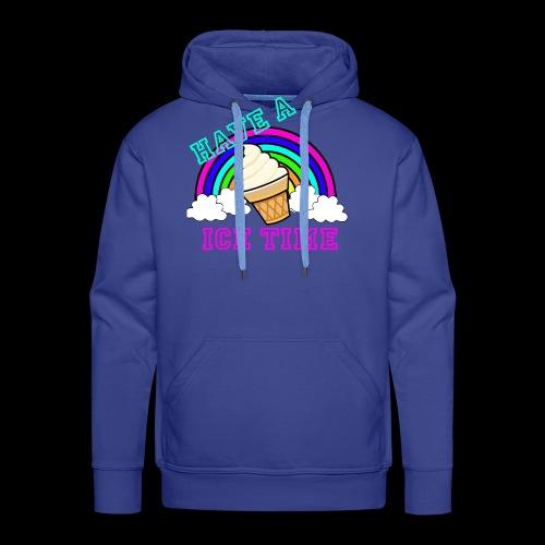 have ice time - Sweat-shirt à capuche Premium pour hommes