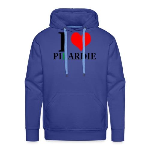 i love pikardie - Sweat-shirt à capuche Premium pour hommes