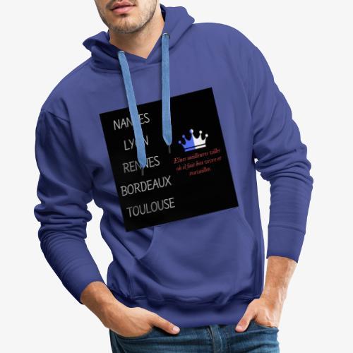 Meilleures villes de France - Sweat-shirt à capuche Premium pour hommes