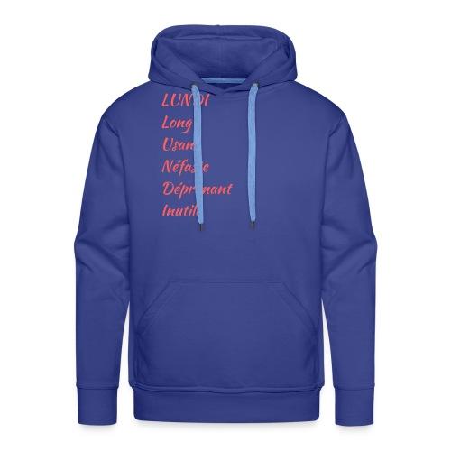 lundi 8 - Sweat-shirt à capuche Premium pour hommes