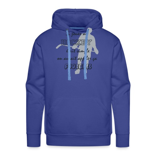 hockey vs foot - Sweat-shirt à capuche Premium pour hommes