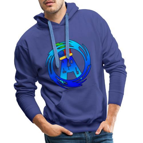 Collection avec logo bleu - Sweat-shirt à capuche Premium pour hommes