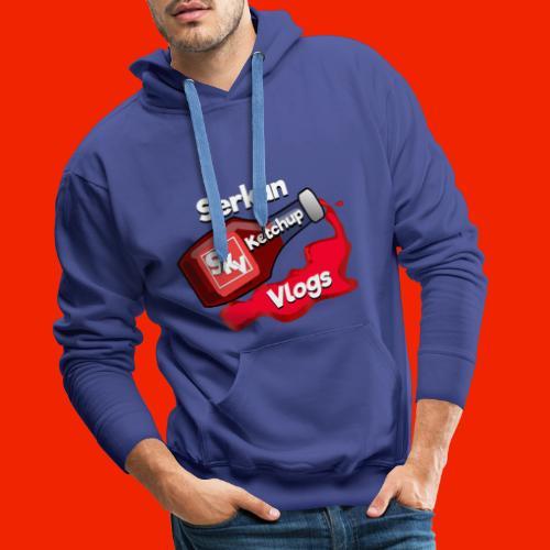 SerkanKetchupVlogs Logo 2.0 (NIEUW!) - Mannen Premium hoodie