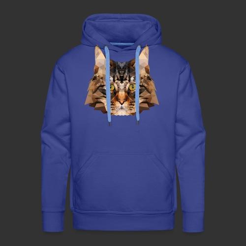 Chat LowPoly - Sweat-shirt à capuche Premium pour hommes