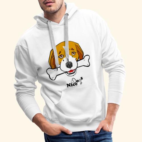 Nice Dogs Semolino - Felpa con cappuccio premium da uomo