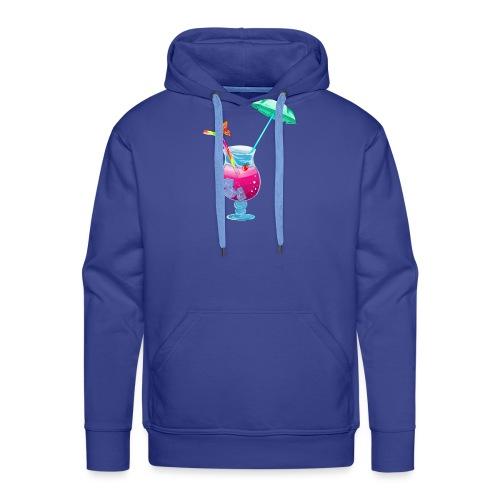Cocktail estival - Sweat-shirt à capuche Premium pour hommes