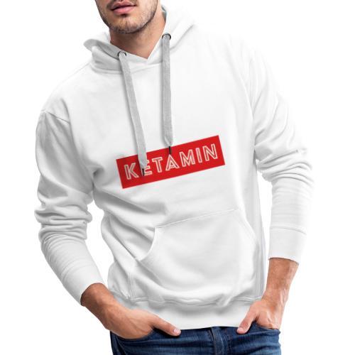 KETAMIN Rock Star - White/Red - Modern - Men's Premium Hoodie
