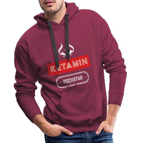 KETAMIN Rock Star - Weiß/Rot - Modern - Men's Premium Hoodie