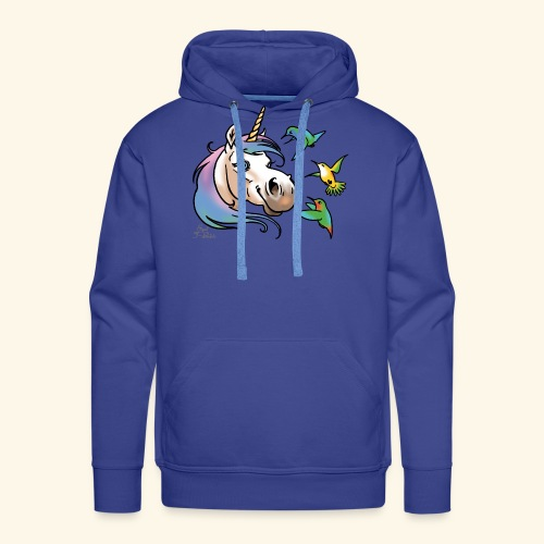 Einhorn und Kolibris - Sweat-shirt à capuche Premium pour hommes