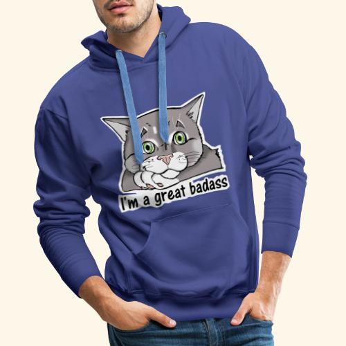 Nice Dogs CATS - Felpa con cappuccio premium da uomo