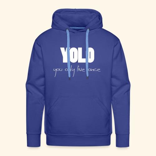 YOLO - white -1 - Männer Premium Hoodie