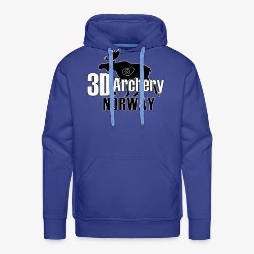 logo 3darchery no - Premium hettegenser for menn