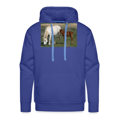 poulain sa mere - Sweat-shirt à capuche Premium pour hommes