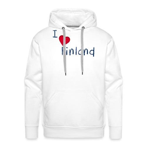 I Love Finland - Miesten premium-huppari